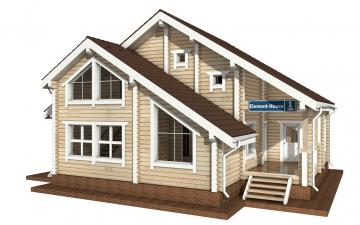 Фото #5: деревянный дом ПДБ-1 из клееного бруса купить за 9637000 (цена «Под ключ»)