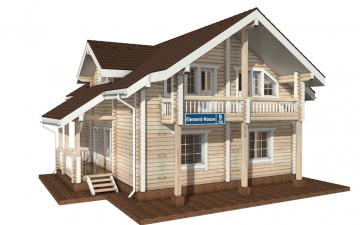 Фото #1: деревянный дом ПДБ-9 из клееного бруса купить за 10234000 (цена «Под ключ»)