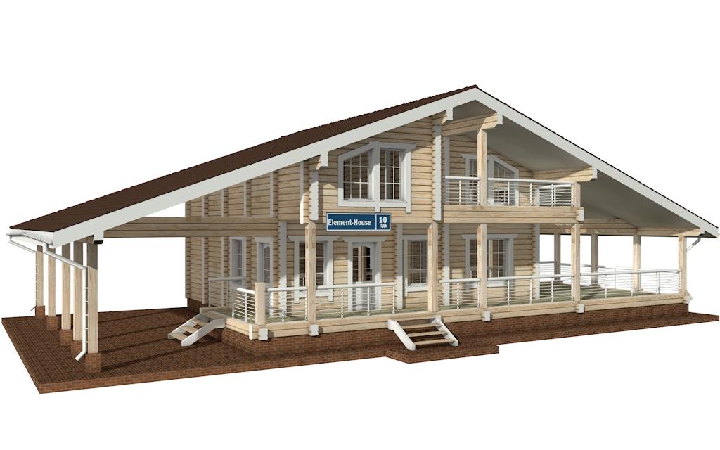 ПДБ-10 - Проект дома из клееного бруса