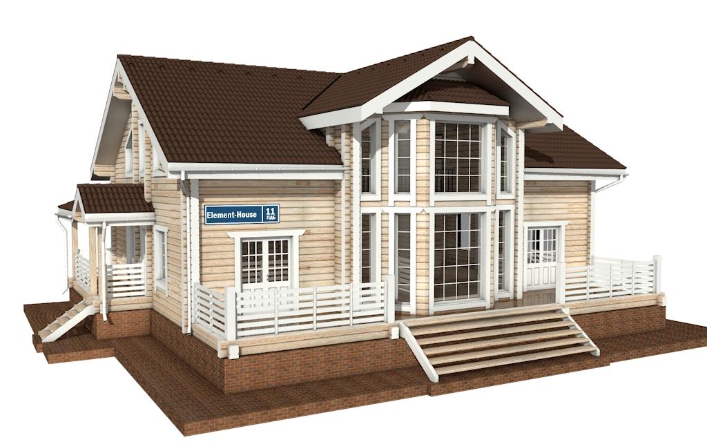 ПДБ-11 - деревянный дом из клееного бруса