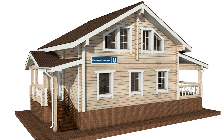 ПДБ-12 - деревянный дом из клееного бруса