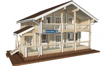 Фото #1: деревянный дом ПДБ-13 из клееного бруса купить за 8773000 (цена «Под ключ»)