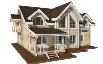 Фото #2: деревянный дом ПДБ-14 из клееного бруса купить за 13633000 (цена «Под ключ»)