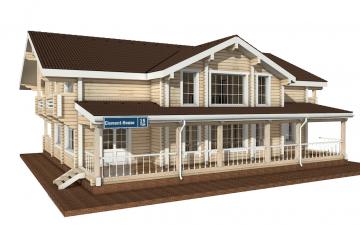 Фото #1: деревянный дом ПДБ-15 из клееного бруса купить за 17296000 (цена «Под ключ»)