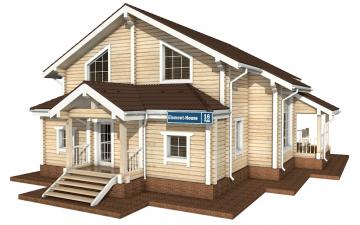 Фото #1: деревянный дом ПДБ-16 из клееного бруса купить за 12169000 (цена «Под ключ»)