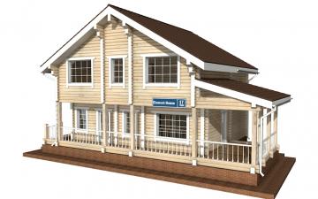 Фото #1: деревянный дом ПДБ-17 из клееного бруса купить за 10487000 (цена «Под ключ»)