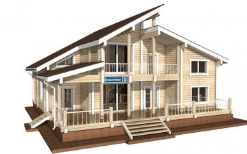 Фото #1: деревянный дом ПДБ-18 из клееного бруса купить за 15318000 (цена «Под ключ»)