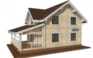Фото #5: деревянный дом ПДБ-2 из клееного бруса купить за 11081000 (цена «Под ключ»)