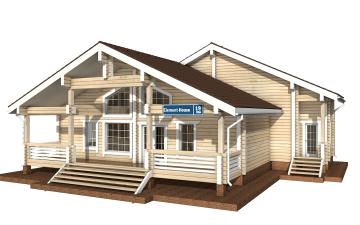 Фото #2: деревянный дом ПДБ-19 из клееного бруса купить за 11807000 (цена «Под ключ»)