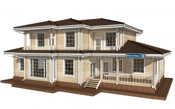 Фото #1: деревянный дом ПДБ-20 из клееного бруса купить за 15868000 (цена «Под ключ»)