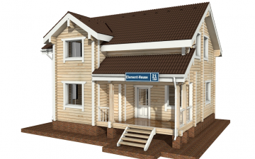 Фото #1: деревянный дом ПДБ-21 из клееного бруса купить за 9469000 (цена «Под ключ»)