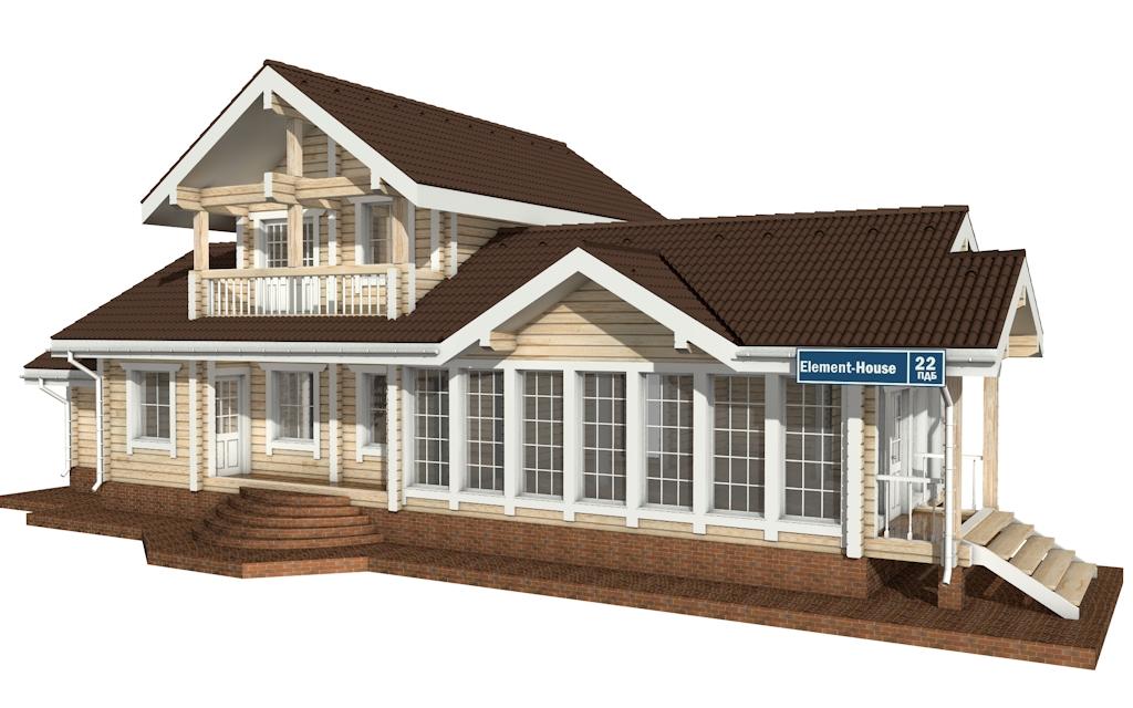 Фото #4: деревянный дом ПДБ-22 из клееного бруса купить за 11225000 (цена «Под ключ»)
