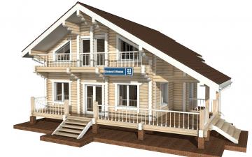 Фото #1: деревянный дом ПДБ-23 из клееного бруса купить за 11107000 (цена «Под ключ»)