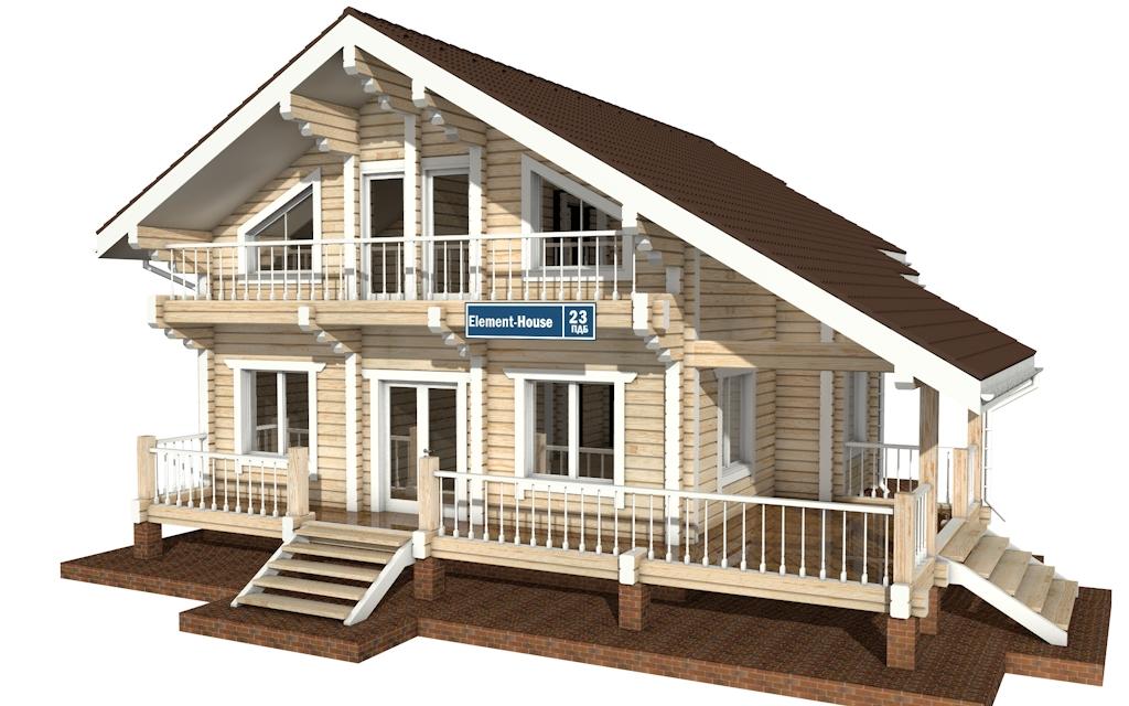ПДБ-23 - деревянный дом из клееного бруса