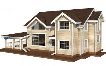 Фото #2: деревянный дом ПДБ-24 из клееного бруса купить за 14757000 (цена «Под ключ»)