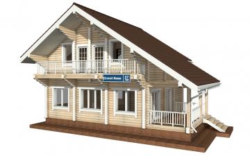 Фото #1: деревянный дом ПДБ-27 из клееного бруса купить за 8343000 (цена «Под ключ»)