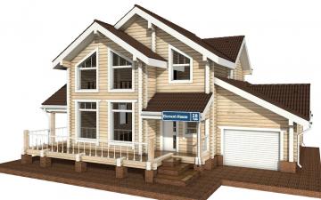 Фото #1: деревянный дом ПДБ-28 из клееного бруса купить за 10822000 (цена «Под ключ»)