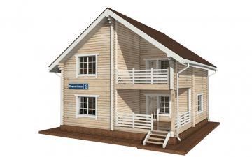 Фото #1: деревянный дом ПДБ-3 из клееного бруса купить за 9321000 (цена «Под ключ»)