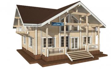 Фото #1: деревянный дом ПДБ-29 из клееного бруса купить за 12475000 (цена «Под ключ»)