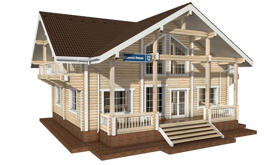 ПДБ-29 - деревянный дом из клееного бруса
