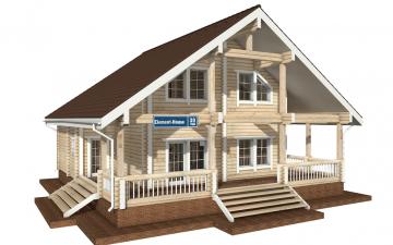 Фото #1: деревянный дом ПДБ-30 из клееного бруса купить за 10828000 (цена «Под ключ»)