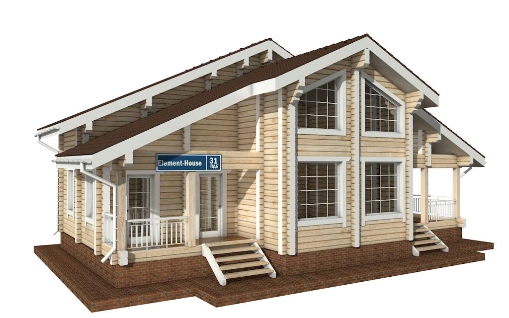 ПДБ-31 - деревянный дом из клееного бруса