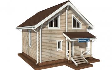 Фото #1: деревянный дом ПДБ-32 из клееного бруса купить за 6195000 (цена «Под ключ»)