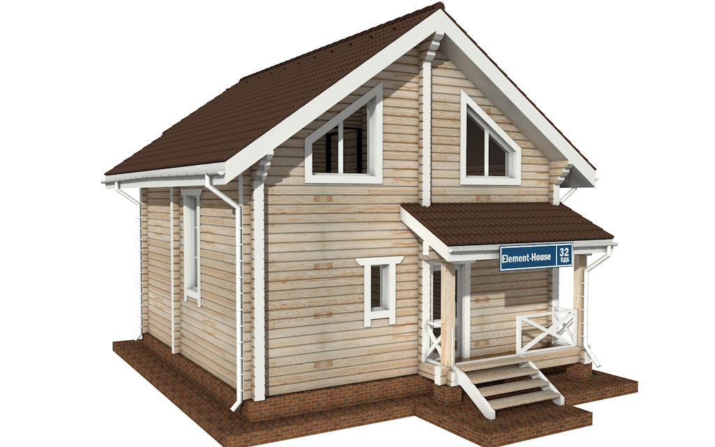 ПДБ-32 - деревянный дом из клееного бруса
