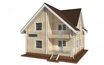 Фото #5: деревянный дом ПДБ-4 из клееного бруса купить за 10471000 (цена «Под ключ»)