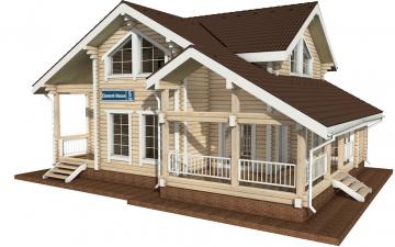 Фото #5: деревянный дом ПДБ-5 из клееного бруса купить за 11075000 (цена «Под ключ»)