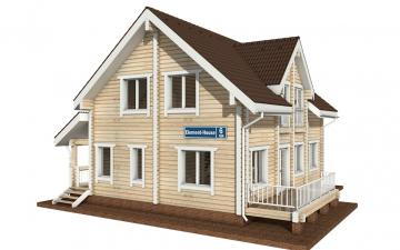Фото #1: деревянный дом ПДБ-6 из клееного бруса купить за 10588000 (цена «Под ключ»)