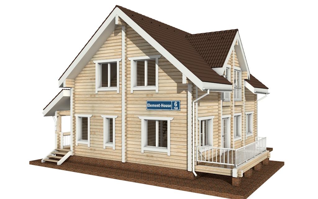 ПДБ-6 - деревянный дом из клееного бруса