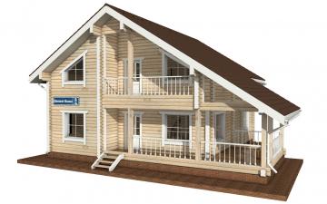Фото #1: деревянный дом ПДБ-8 из клееного бруса купить за 11035000 (цена «Под ключ»)