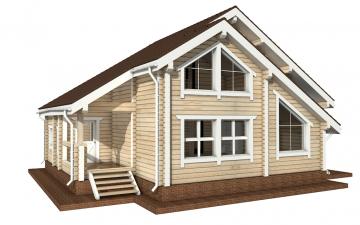 Фото #1: деревянный дом ПДБ-1 из клееного бруса купить за 9637000 (цена «Под ключ»)