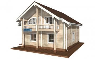 Фото #5: деревянный дом ПДБ-9 из клееного бруса купить за 10234000 (цена «Под ключ»)