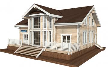 Фото #2: деревянный дом ПДБ-11 из клееного бруса купить за 11765000 (цена «Под ключ»)