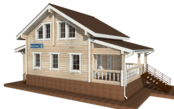 Фото #5: деревянный дом ПДБ-12 из клееного бруса купить за 6294000 (цена «Под ключ»)