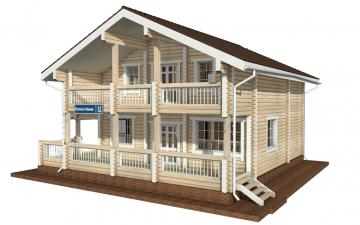Фото #2: деревянный дом ПДБ-13 из клееного бруса купить за 8773000 (цена «Под ключ»)