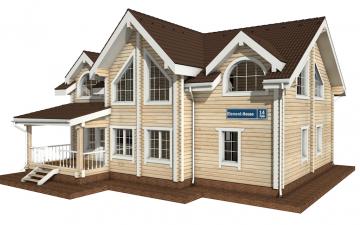 Фото #1: деревянный дом ПДБ-14 из клееного бруса купить за 13633000 (цена «Под ключ»)