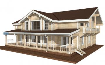Фото #5: деревянный дом ПДБ-15 из клееного бруса купить за 17296000 (цена «Под ключ»)