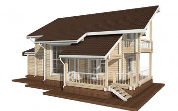 Фото #3: деревянный дом ПДБ-16 из клееного бруса купить за 12169000 (цена «Под ключ»)