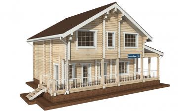 Фото #5: деревянный дом ПДБ-17 из клееного бруса купить за 10487000 (цена «Под ключ»)
