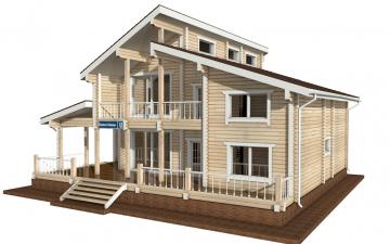 Фото #2: деревянный дом ПДБ-18 из клееного бруса купить за 15318000 (цена «Под ключ»)