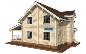 Фото #1: деревянный дом ПДБ-2 из клееного бруса купить за 11081000 (цена «Под ключ»)