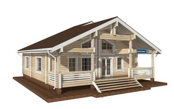 Фото #1: деревянный дом ПДБ-19 из клееного бруса купить за 11807000 (цена «Под ключ»)