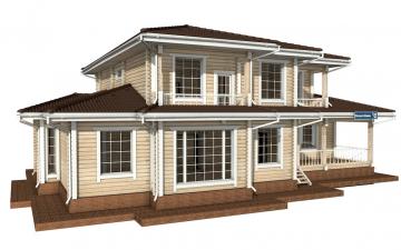 Фото #5: деревянный дом ПДБ-20 из клееного бруса купить за 15868000 (цена «Под ключ»)
