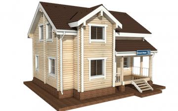 Фото #5: деревянный дом ПДБ-21 из клееного бруса купить за 9469000 (цена «Под ключ»)