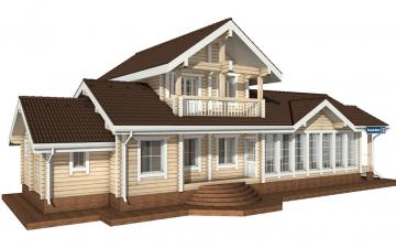 Фото #1: деревянный дом ПДБ-22 из клееного бруса купить за 11225000 (цена «Под ключ»)