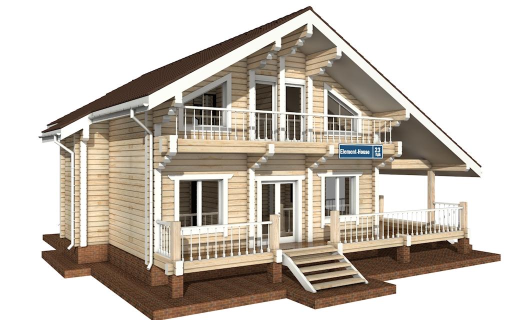 Фото #4: деревянный дом ПДБ-23 из клееного бруса купить за 11107000 (цена «Под ключ»)