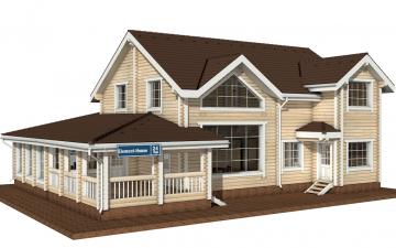Фото #1: деревянный дом ПДБ-24 из клееного бруса купить за 14757000 (цена «Под ключ»)